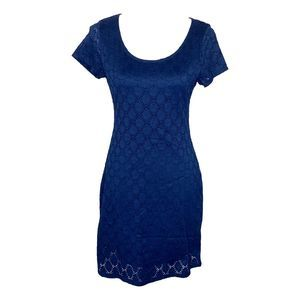 Isaac Mizrahi Lace Short Sleeve Dress Medium